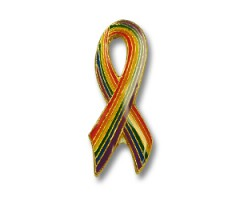 "Ansteckpin ""Rainbow Ribbon"""