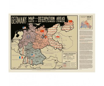 "Karte ""Occupation Map Deutschland 1951"" (gefaltet)"