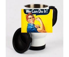 "Edelstahl-Thermotasse ""We can do it!"""
