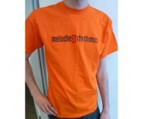 "T-Shirt ""Melodie & Rhythmus"" (orange)"
